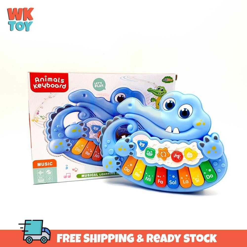 WKTOY Cute Crocodile Animal Baby Piano Musical Learning Keyboard Sound and Light