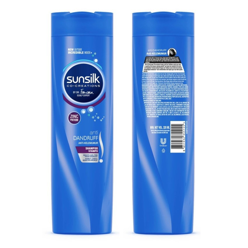 SUNSILK SHAMPOO ANTI-DANDRUFF 320mL (EXP: 11/ 2019)