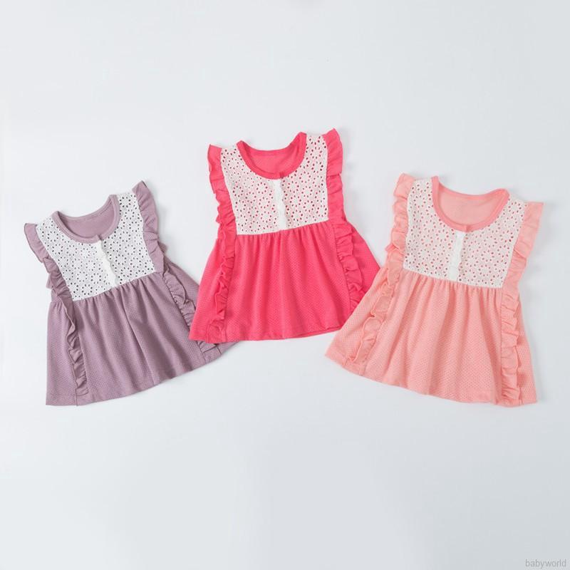 0d26b0314154c babyworld💐Baby Girls cute dress Sleeveless Summer Kids Lace ...
