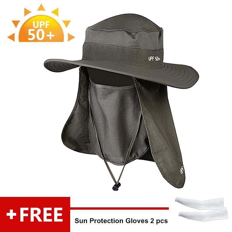 db401f22 Uv protection✁♤Sunshade anti-ultraviolet sun hat outdoor anti-mosquito cap  summer men's net yarn cover face female suns | Shopee Malaysia