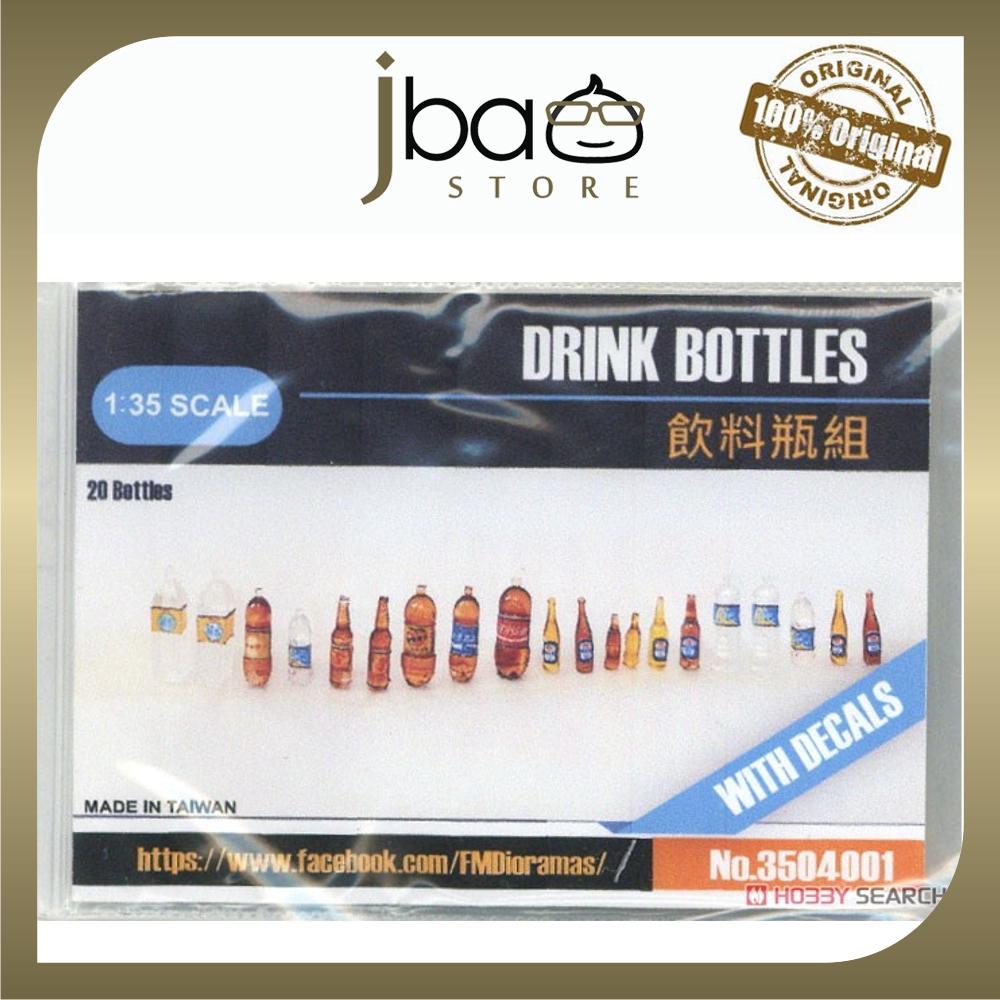 FMDioramas 1/35 Drink Bottles Diorama Scene GWBC Miniatures 20 bottles with Decals