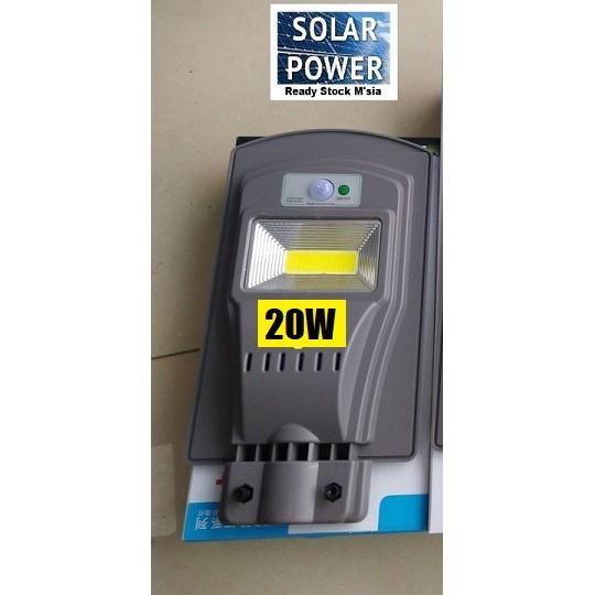 [ READY STOCK ]  Ultra Bright 20w 40w 60w COB LED solar Street light Outdoor Lamp Pelita Lampu Flood Spotlight