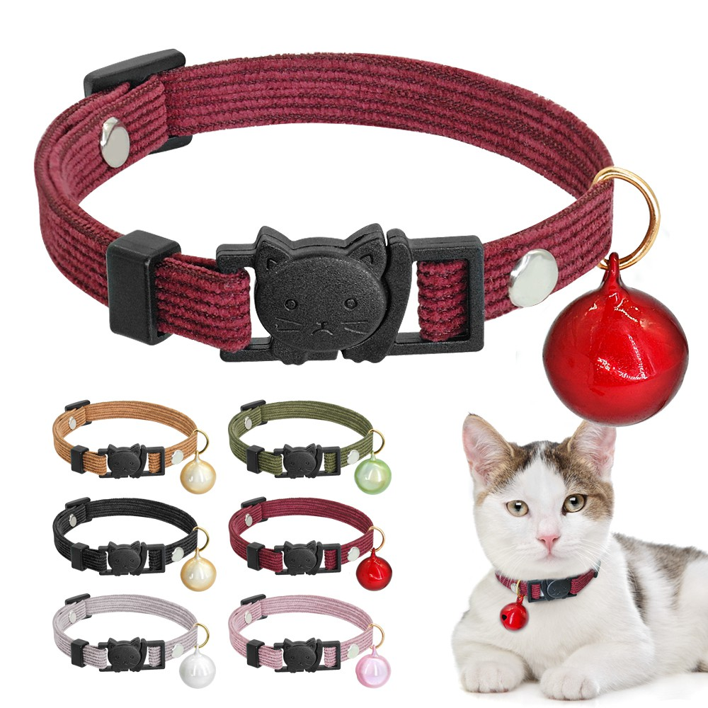azuza Breakaway Cat Collar with Bell Cute Pineapples and Bananas Adjustable from 8-12 2 Pack Safety Buckle Cat Collars with Bowtie