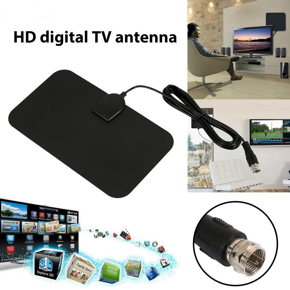 HYnet✨TV Antenna HDTV Digital TV Aerial Indoor HDTV Antenna TV Signal  Receiver Ultra Thin 1080P