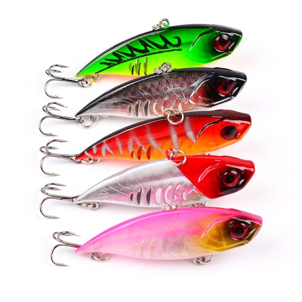 5PCS Lot Metal VIB Blade Fishing Lures Crankbaits Bass Hook Tackle 5cm 11g JF