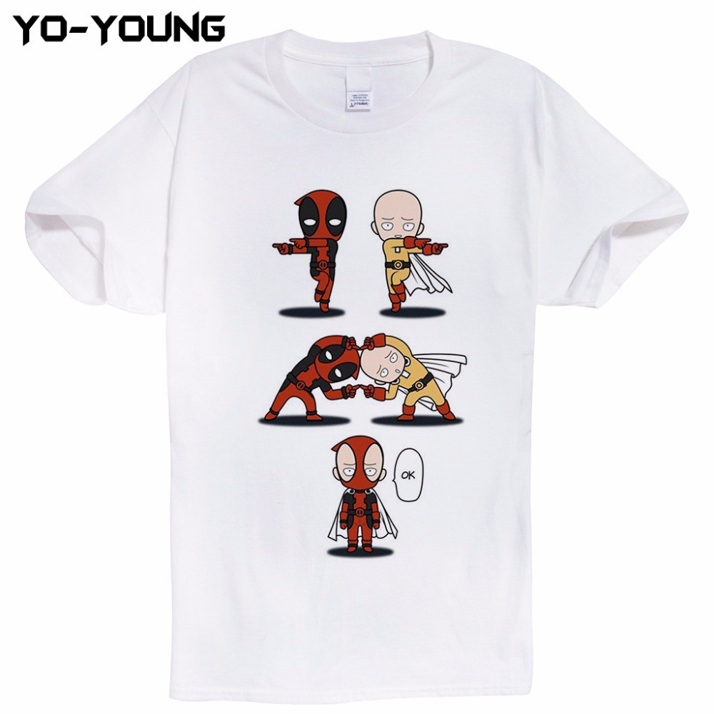 Deadpool Wade Wilson Movie Superhero Digital 03 Hip Hop Mens T Shirts White