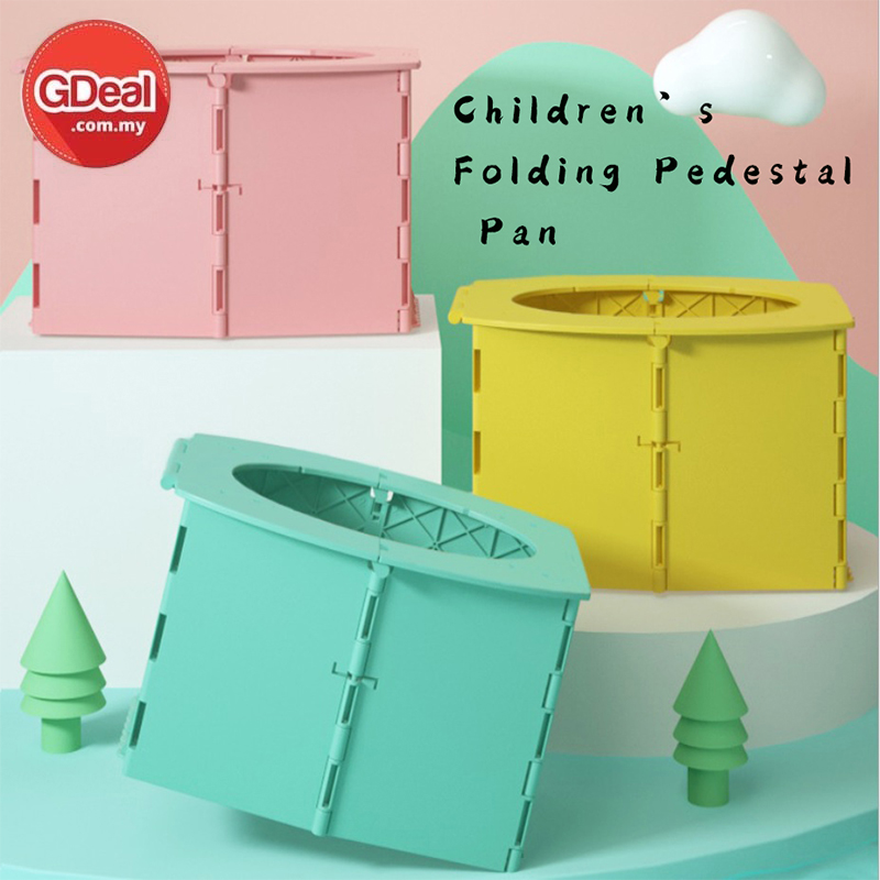 GDeal Children's Small Folding Toilet Potty Pedestal Portable With Garbage Bag