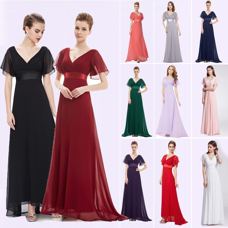 649576dd2e Ever Pretty Women Chiffon Long Maxi Dress Short Sleeve Formal Evening Party  Prom Dress 9890 White