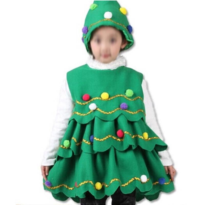 Toddler Christmas Tree Costume.Kids Children Christmas Trees Costume Clothes Wear Christmas Party Outwear Green