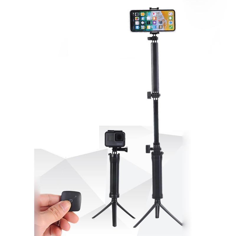 d6f19f9fb546eb ProductImage. ProductImage. 3-Way Hand Grip Arm Bluetooth Selfie Stick  Tripod Mount Waterproof Monopod for ...