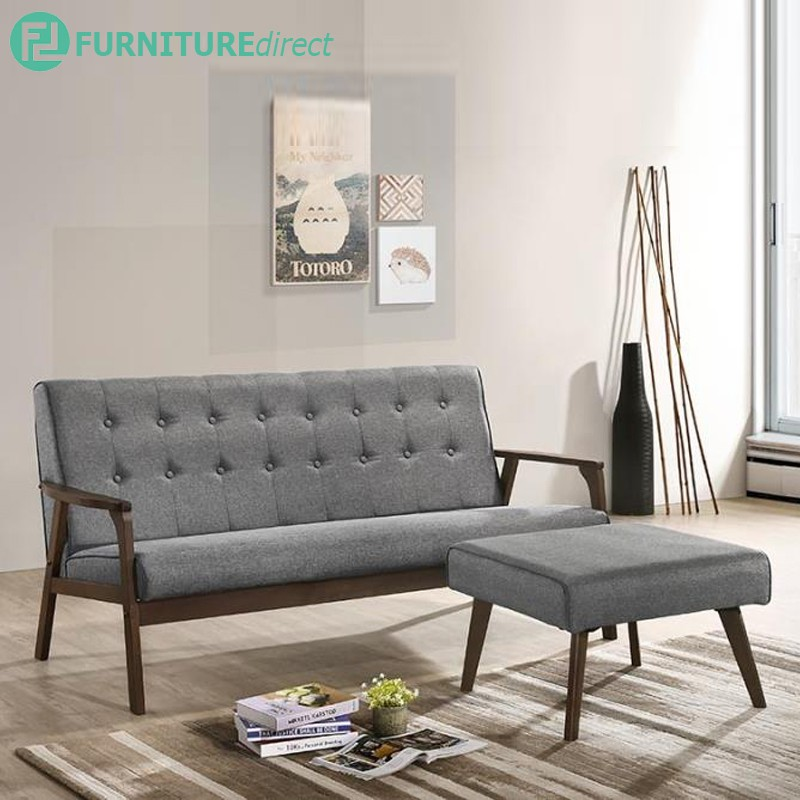 Furniture Direct solid wood sofa set wooden sofa murah 321 ikea furniture