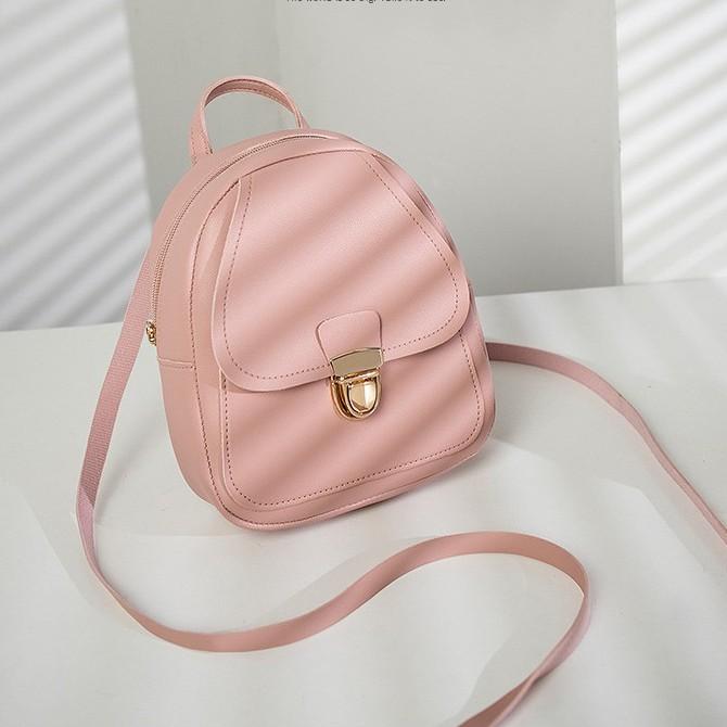 Beg Perempuan Backpack Candy Colour Mini Backpacks 少女爱心糖果色潮流背包 B00112