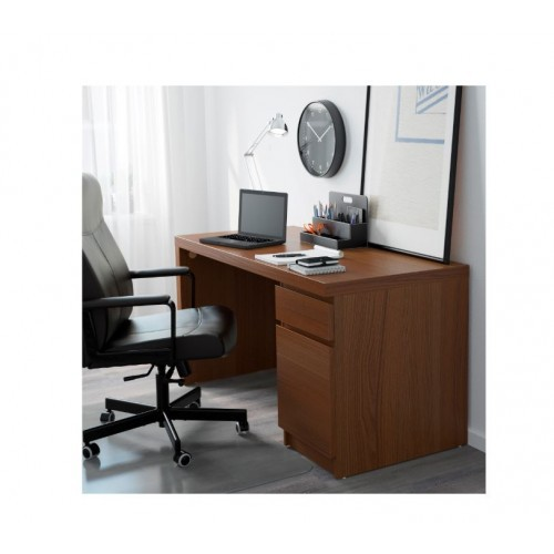 the latest 8c10f 62f18 IKEA MALM Desk Brown Stained Ash Veneer