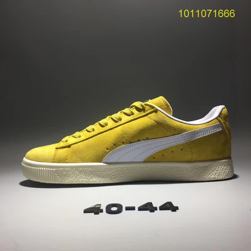 new styles 79298 f8e35 Discount Puma Suede Classic sneakers Running Shoes leisure handsome shoes  yellow