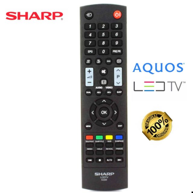 SHARP(Original)TV/LED/LCD Remote Control (GJ220)