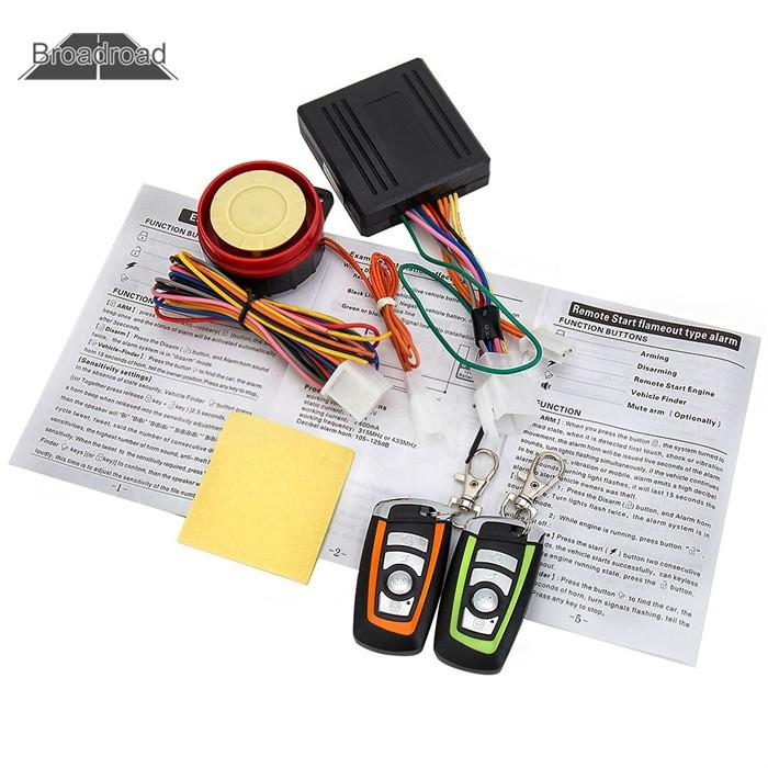 broadroad 12V Motorcycle Bike Anti-theft Security Alarm System Keyless  Remote C