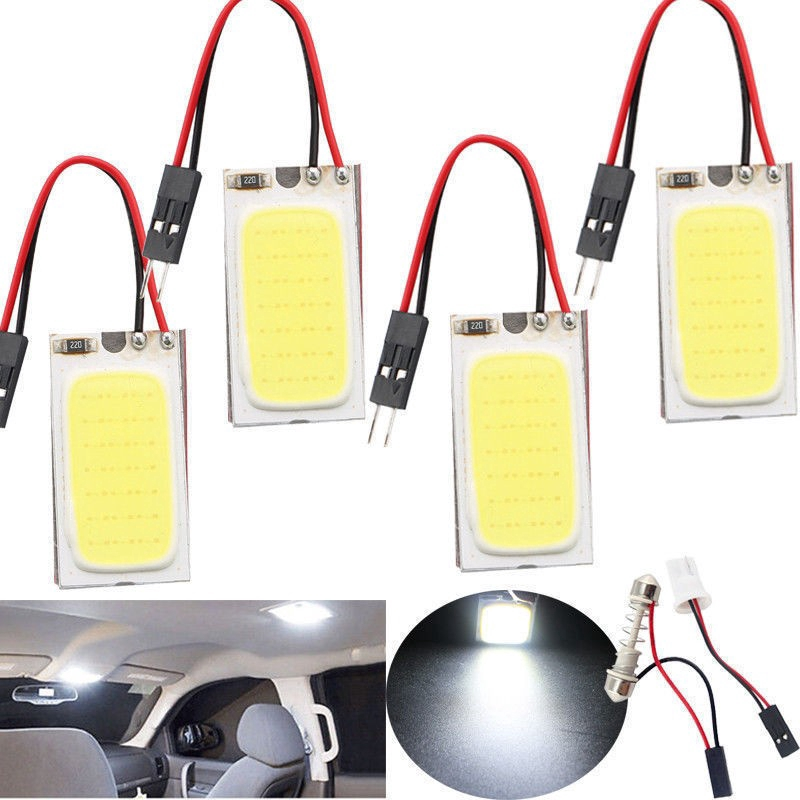 48 Interior Panel 1pc Light Cob Led Car Smd T10 12v White 4w OPXN8wkn0