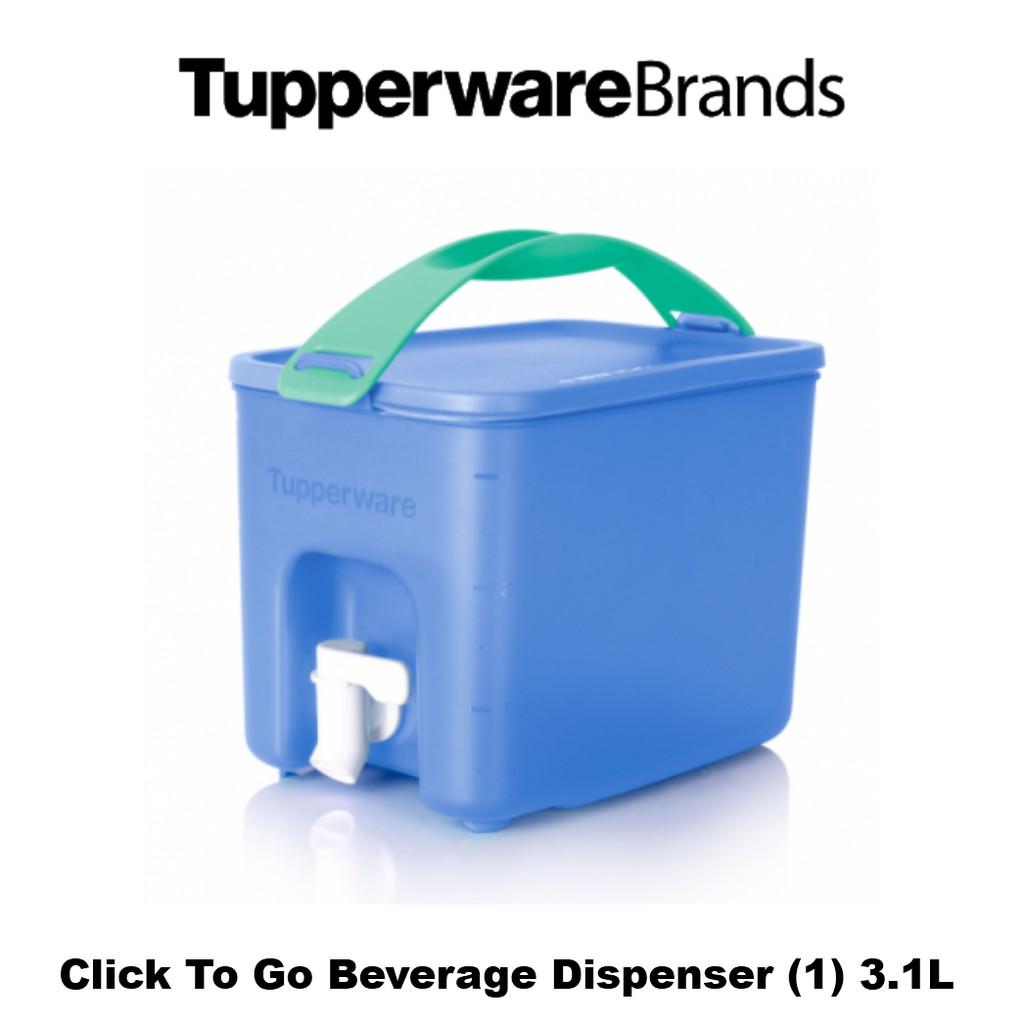 Tupperware Click To Go Beverage Dispenser (1) 3.1L