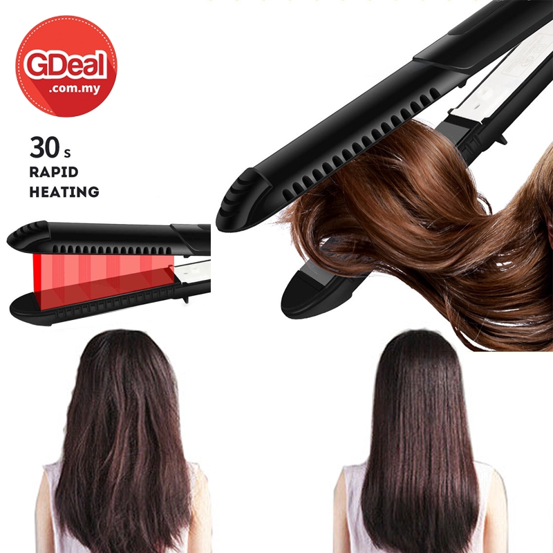 GDeal Portable Women Professional Hair Straightener Flat Iron Straightening Styling Tool