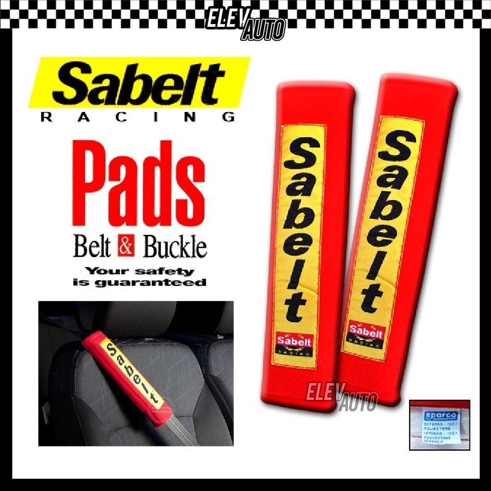 Sabelt Racing Shoulder Pad Belt & Buckle Pads Safety Belt Comforter Cushion Red (2 pcs / Pair)