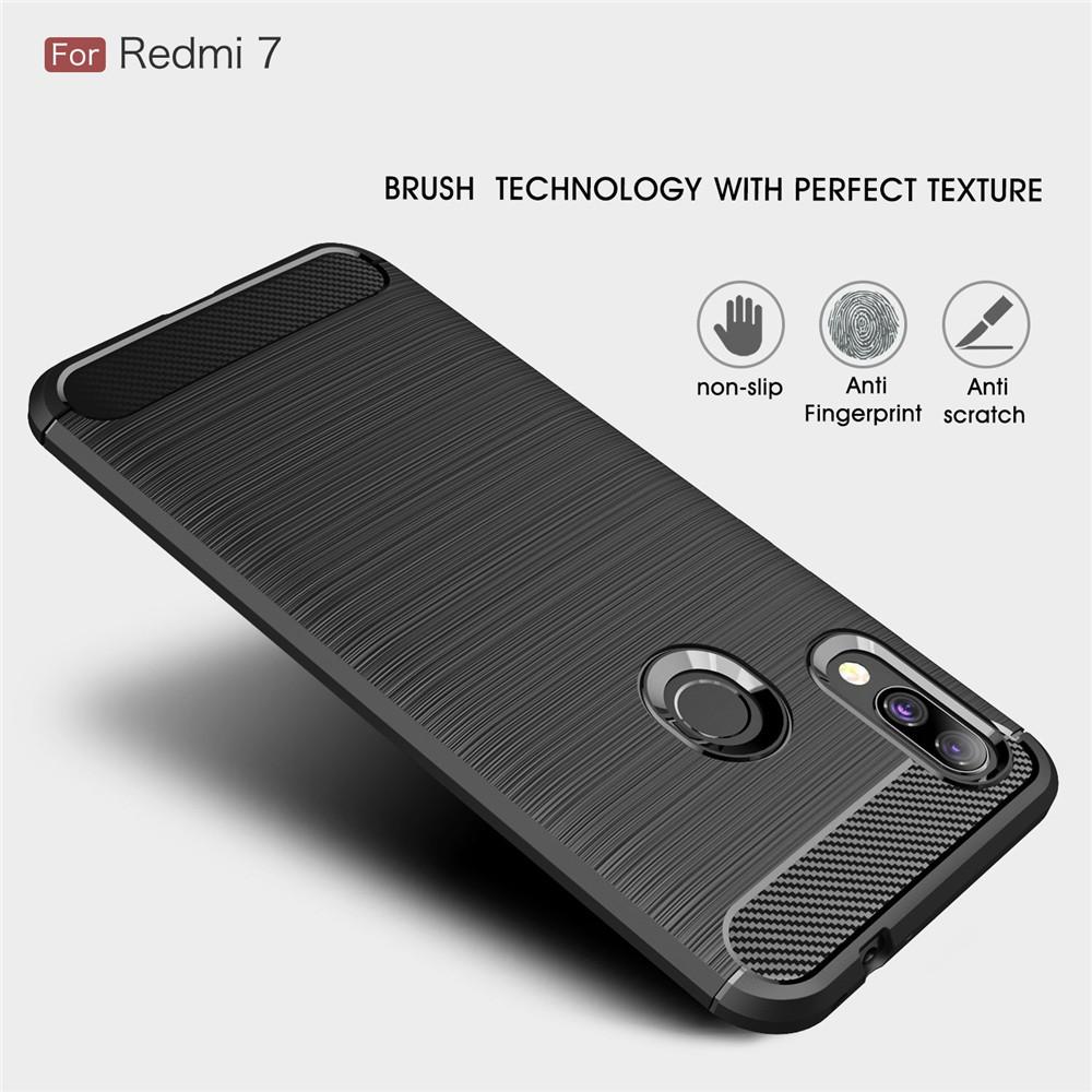เคสโทรศัพท์คาร์บอนไฟเบอร์ TPU สำหรับ Xiaomi Redmi