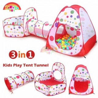 timeless design 5a070 9dc62 3 In 1 Kids Play Tent Tunnel Play House Children Baby Indoor Outdoor