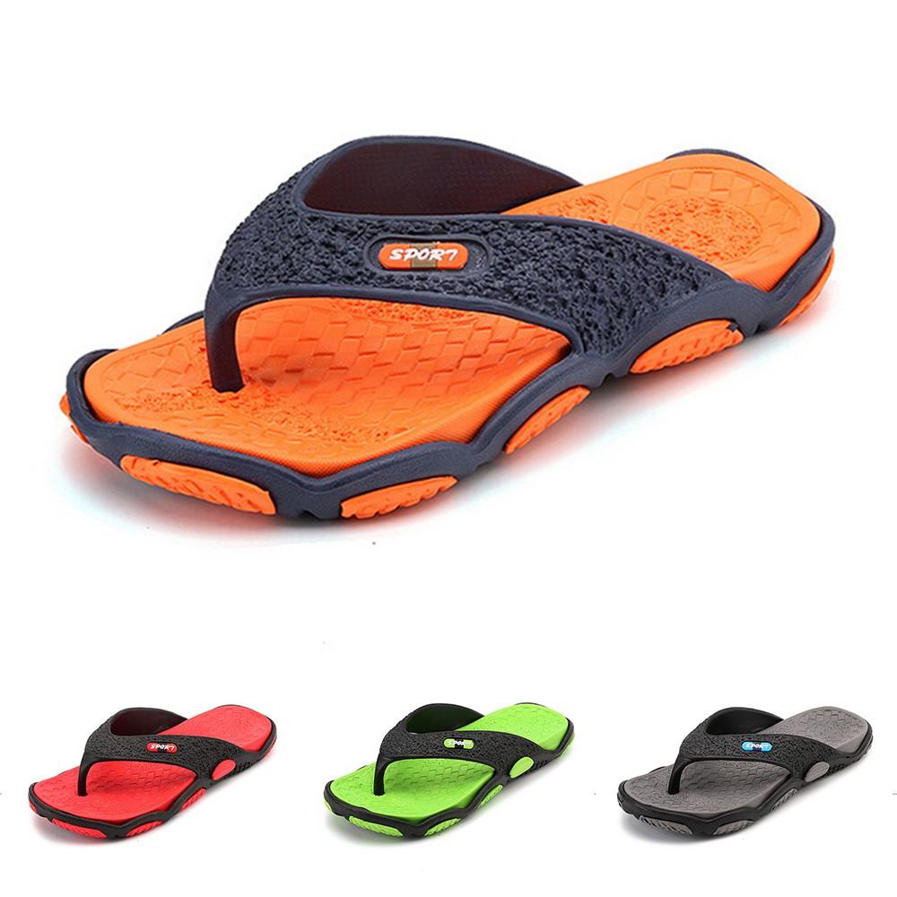 89bda50bb912 Flip Flops Beach Men David Beckham Fashion Casual Summer Slippers Light  Sandals