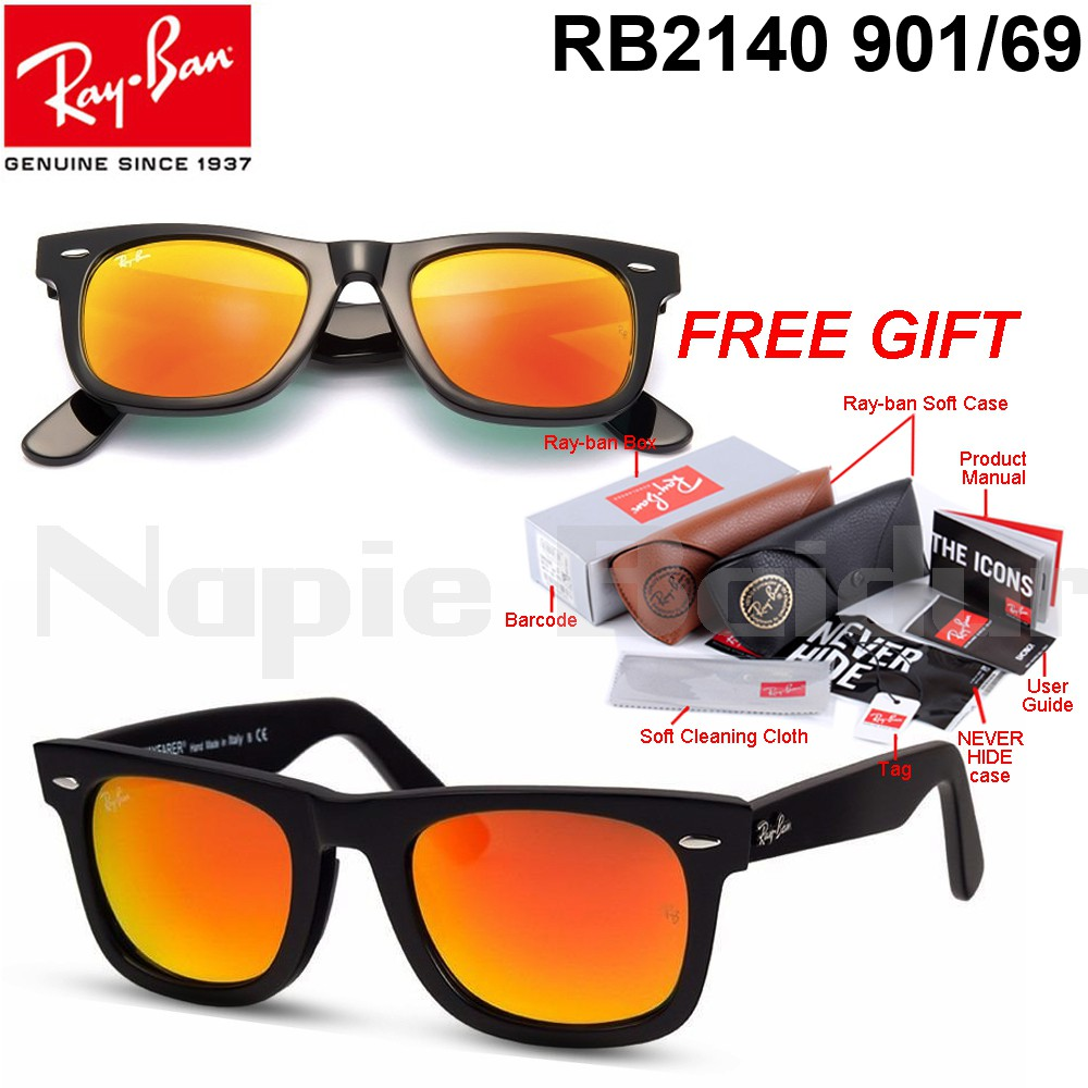 ae5d4b38a7 100% Original Ray-Ban New Wayferer RB2132 901 55mm