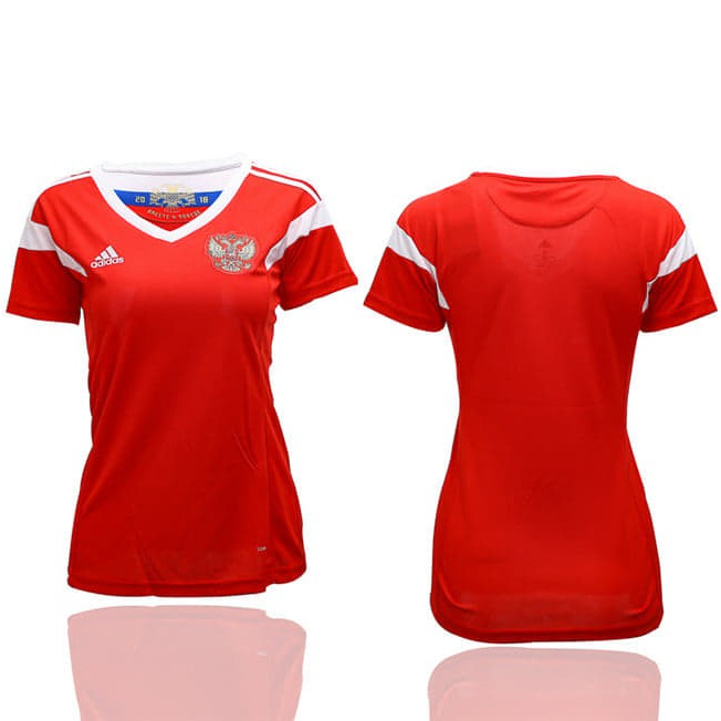 Russia Women Home World Cup 2018 CLIMALITE Fans Jersey
