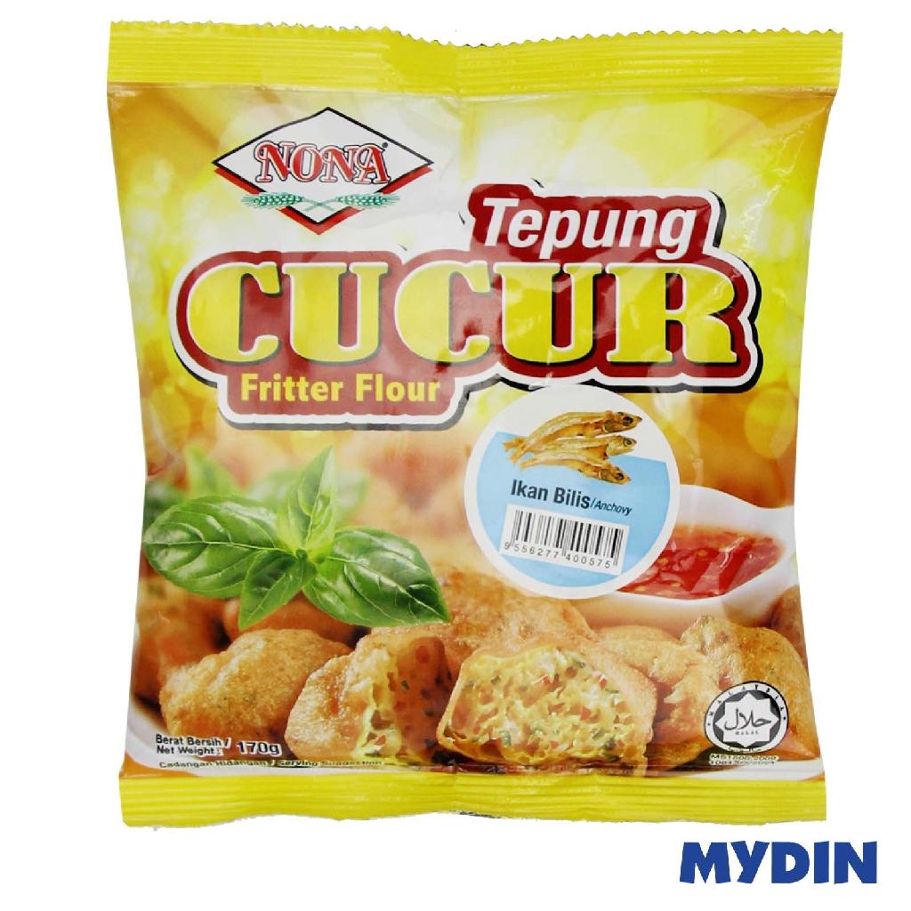 Nona Cucur Fritter Flour - Ikan Bilis (170g)
