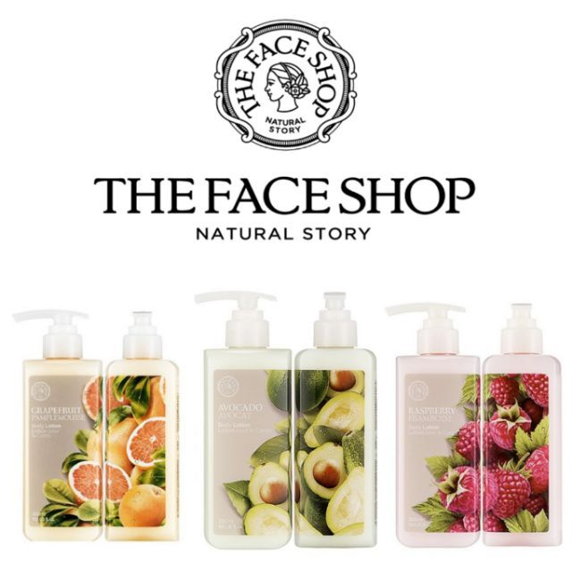 The Face Shop Body Lotion Avocado, Raspberry and Grapefruit