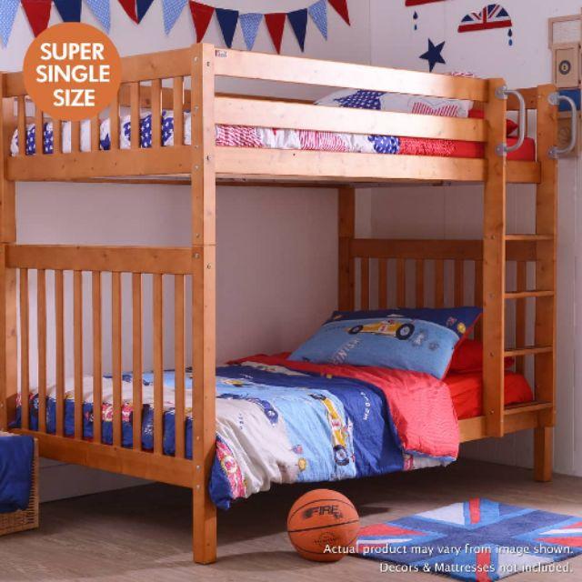 Youth Separable Pinewood Bunk Bed Tomato Kidz Shopee Malaysia
