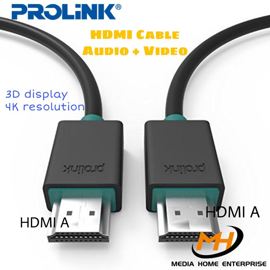 Prolink HDMI Cable Audio + Video (EPB348) - 3D display, HDMI A -> HDMI A, 1080HD