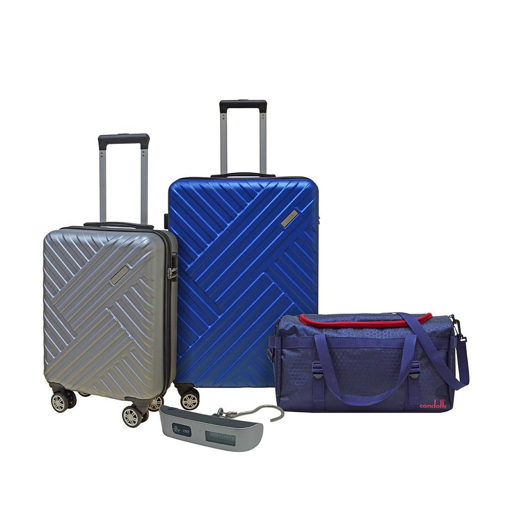 Condotti Super Value Luggage Set [ 1 set luggage + travelling bag + luggage scale ]
