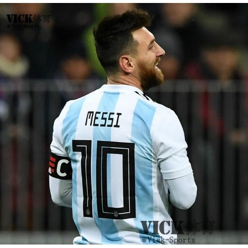 buy popular 9352d 24549 Top Quality Argentina Messi No.10 2018 World Cup Home Football Jersey