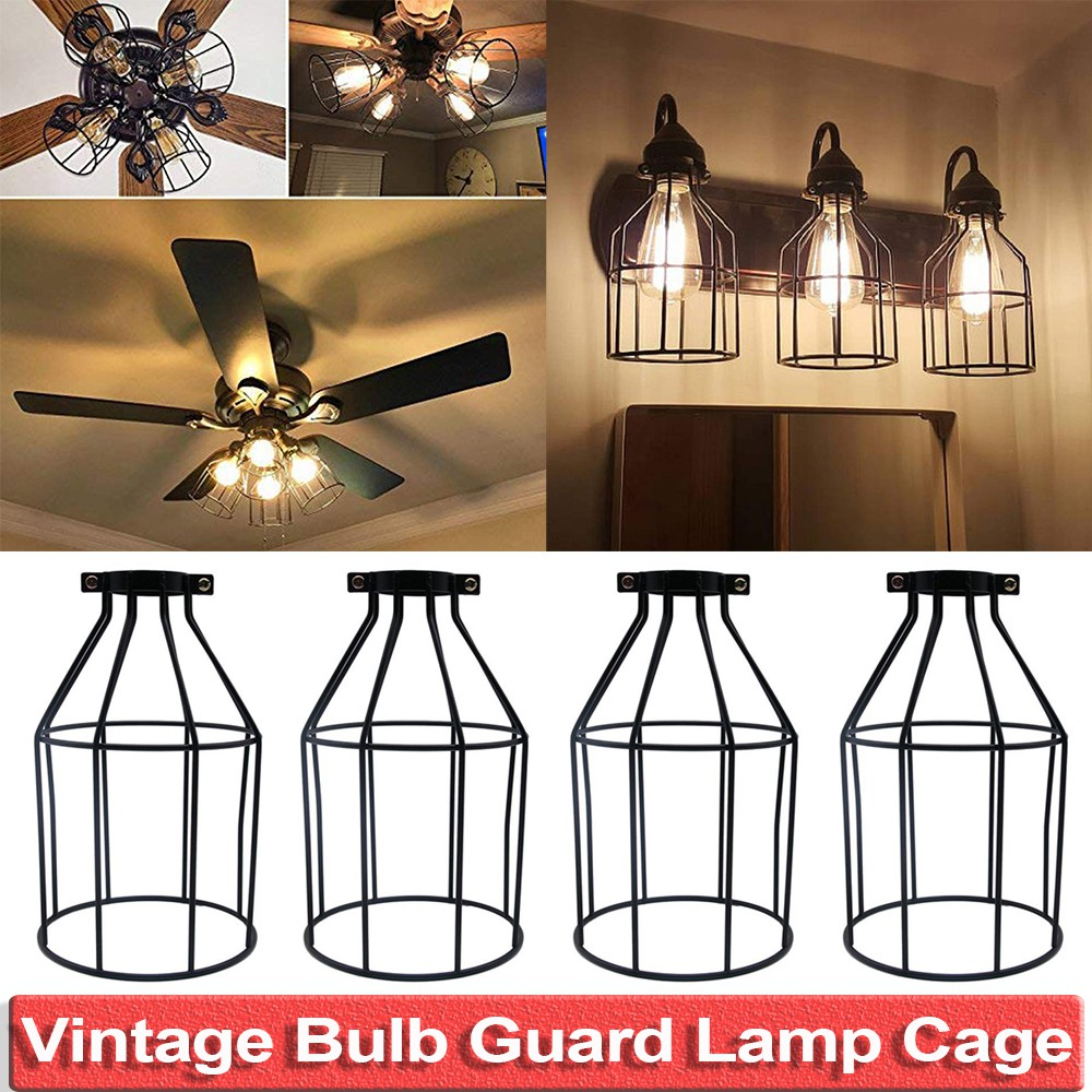 Vintage And Industrial Metal Bulb Guard Lamp Shades Lights Lamp Holders Ceiling Fan And Light Bulb Covers Lamp Shades Shopee Malaysia