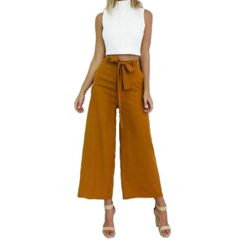 Women Long Slim Tight Flare Pants Overalls Work Career Ladies Trouser High 00