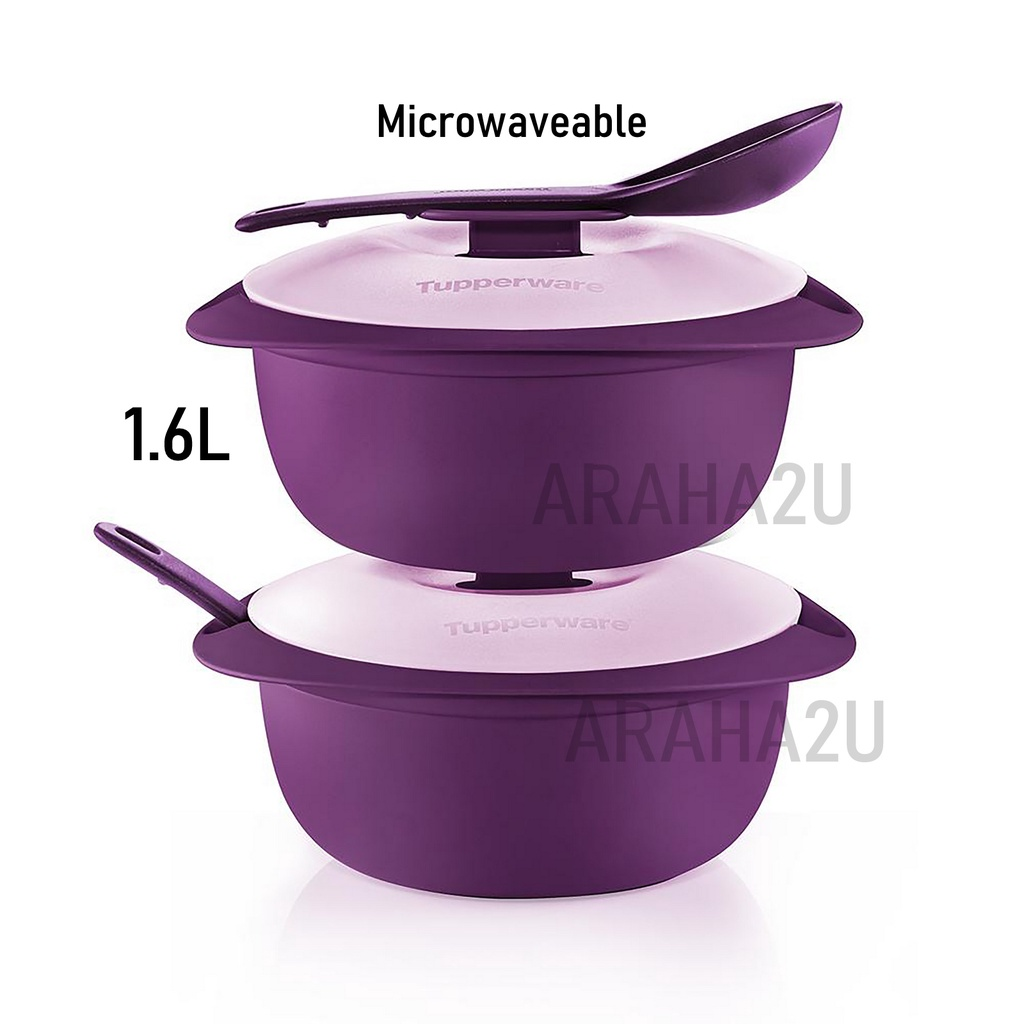 Tupperware Microwaveable Royal Blossom Serveware Round Serving Set 1.6L with Ladle / Raya Serving Set / Limited