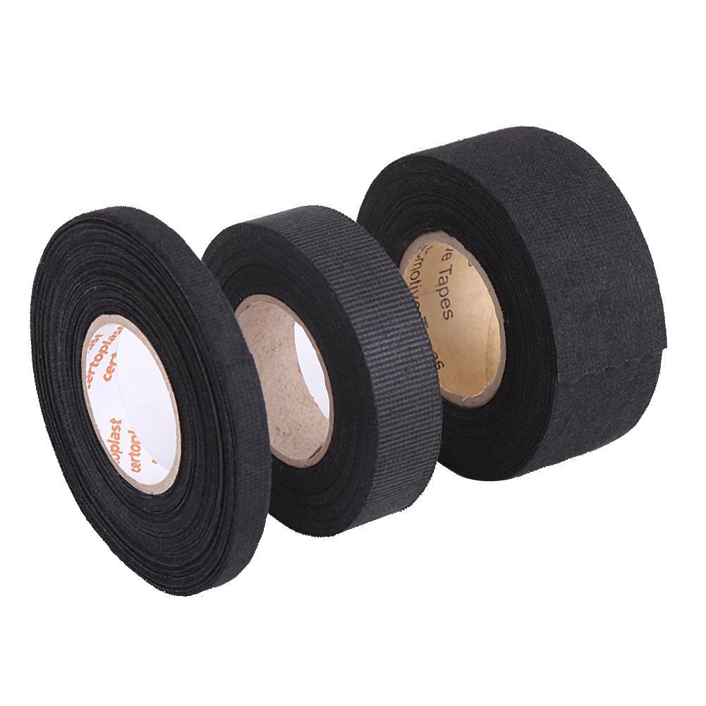 32mm11.5mm Wiring Harness Tape Multipurpose Self Adhesive Felt Tape Anti Squeak Rattle Felt Insulating Tape for Car Motorcycle Black