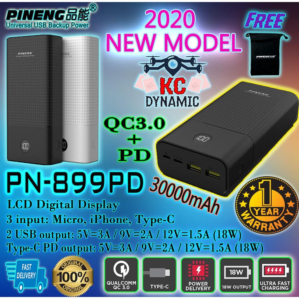 (Re-Stock Malaysia) PINENG PN899PD 30000MAH 969, 961,962 PINENG 999 PINENG 936 Powerbank