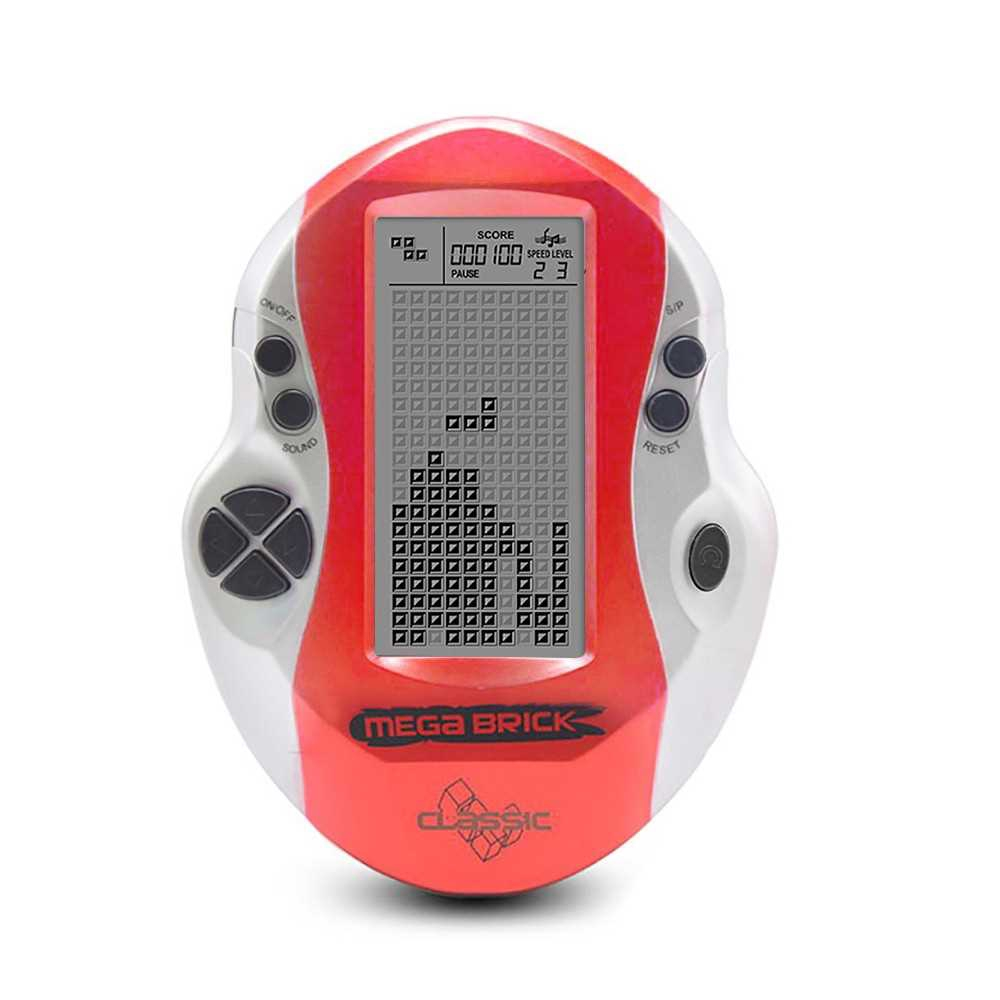 Pocket Handheld Video Game Console 3in LCD Mini Portable Brick Game Player w/ Built-in 26 Games (Red)