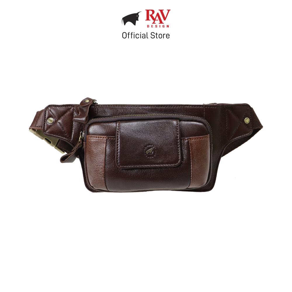 RAV DESIGN Men's Genuine Leather Waist Bag |RVY462 Series