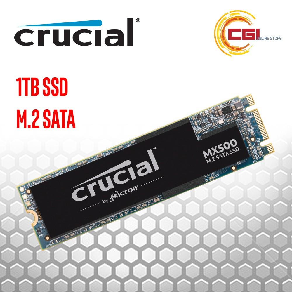 CT1000MX500SSD4 Crucial MX500 1TB 3D NAND SATA M.2 Type 2280SS Internal SSD