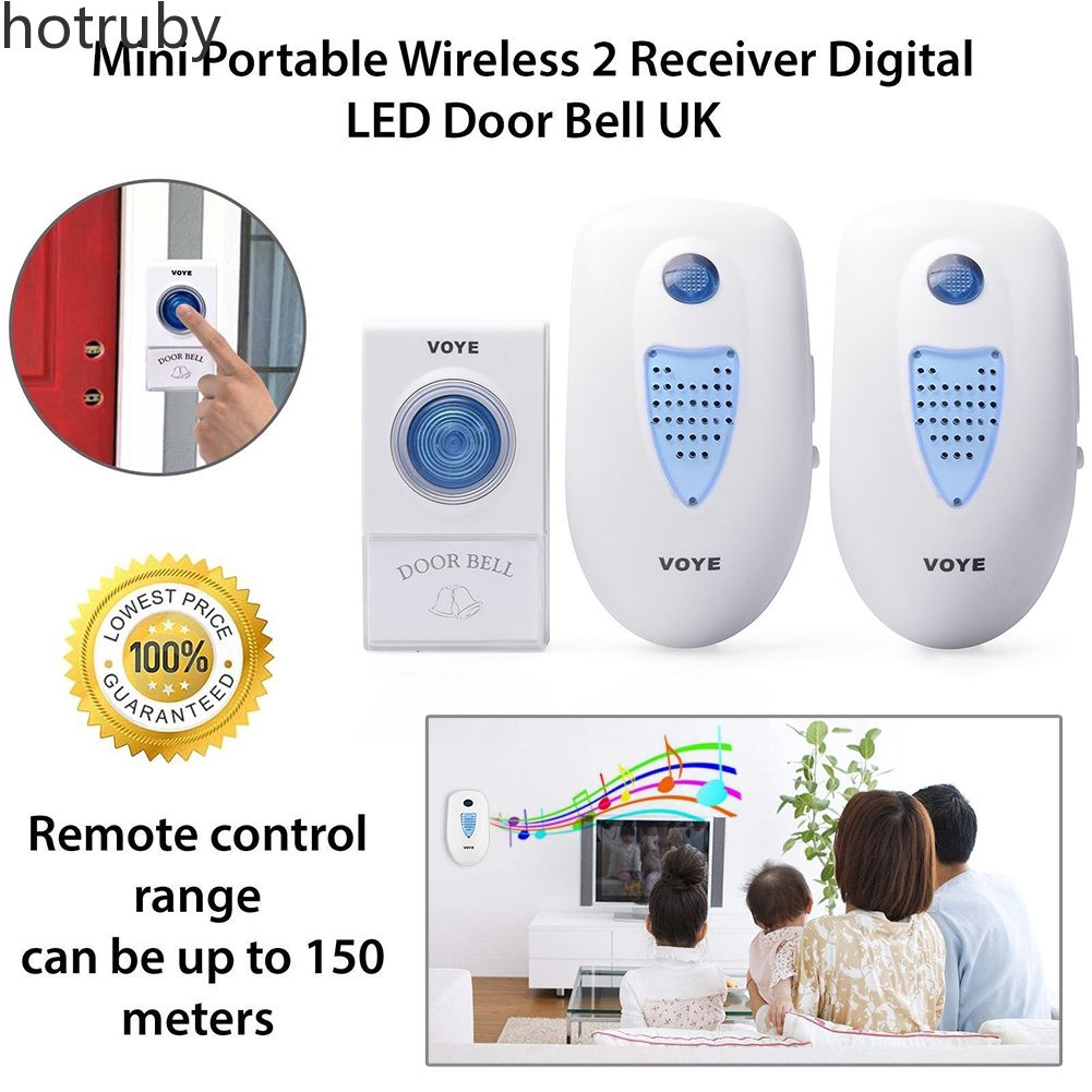 Range Twin Plug In Wireless Cordless Digital Chime Door Bell 38 Melodies  【hot】