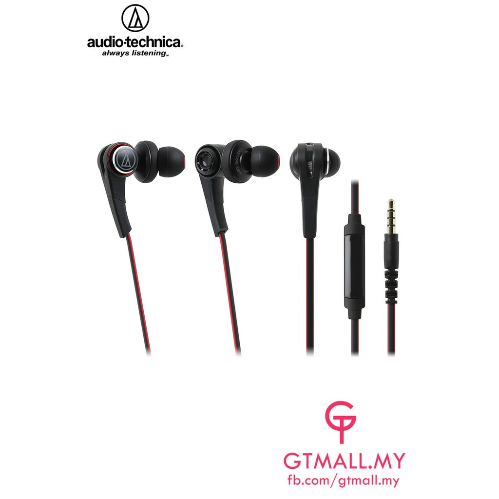 Audio Technica Ath Cks550is Solid Bass In Ear With Line Mic Clr100is Black Control Shopee Malaysia