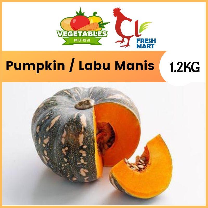 Pumpkin Labu Manis (1PC) 2kg-3kg