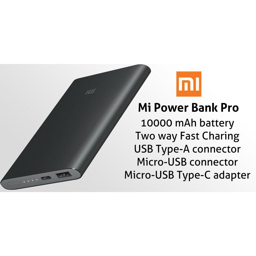 Xiaomi 10000mah 2 2018 Dual Port Power Bank Mi Fast Powerbank 10000 Shopee Malaysia