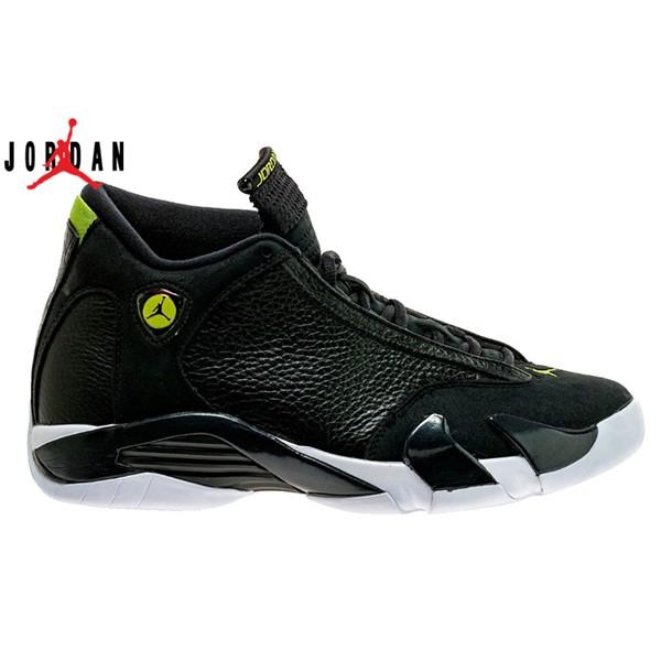 95f64182c65 ProductImage. ProductImage. Men's Air Jordan 14 Indiglo Basketball Shoes  Black/White-Vivid Green 487471-005