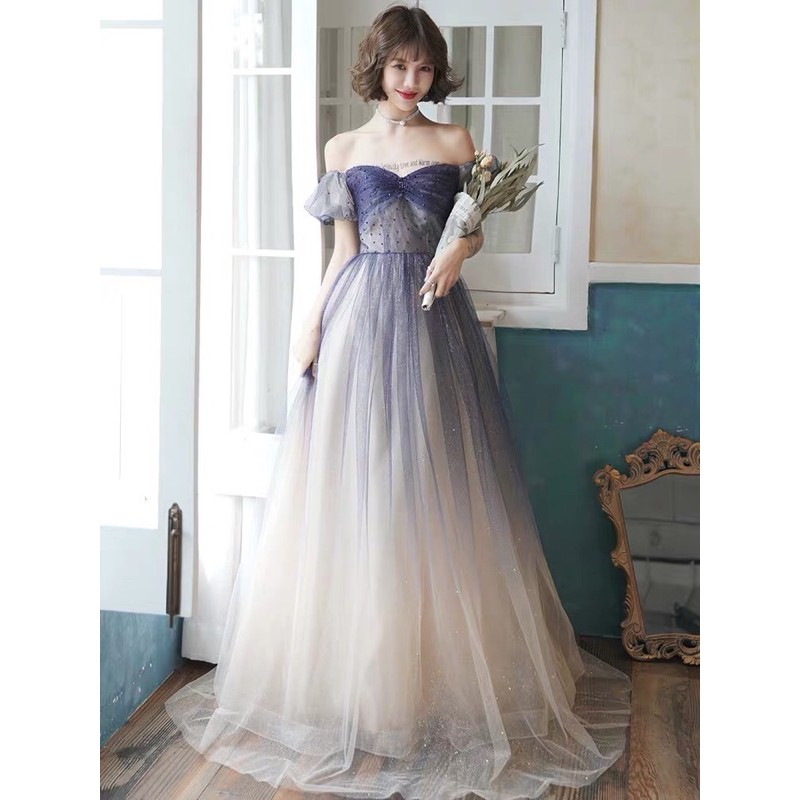 Evening Gown grey colour XXL