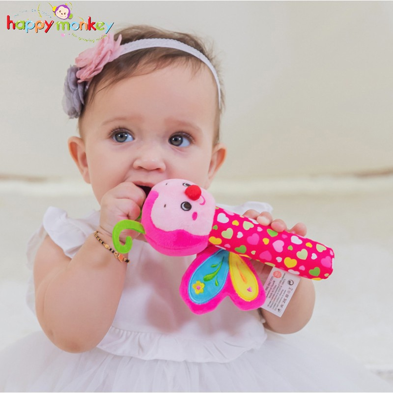 Cute Baby Bell Hand Grasp Educational Toys Infant Bed Hanging Toy Plush Doll MB